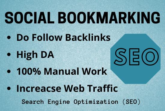 Do 50 Social Bookmarking Backlinks Manually