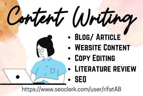 SEO friendly Content Writing Service from 500 to 1000 words