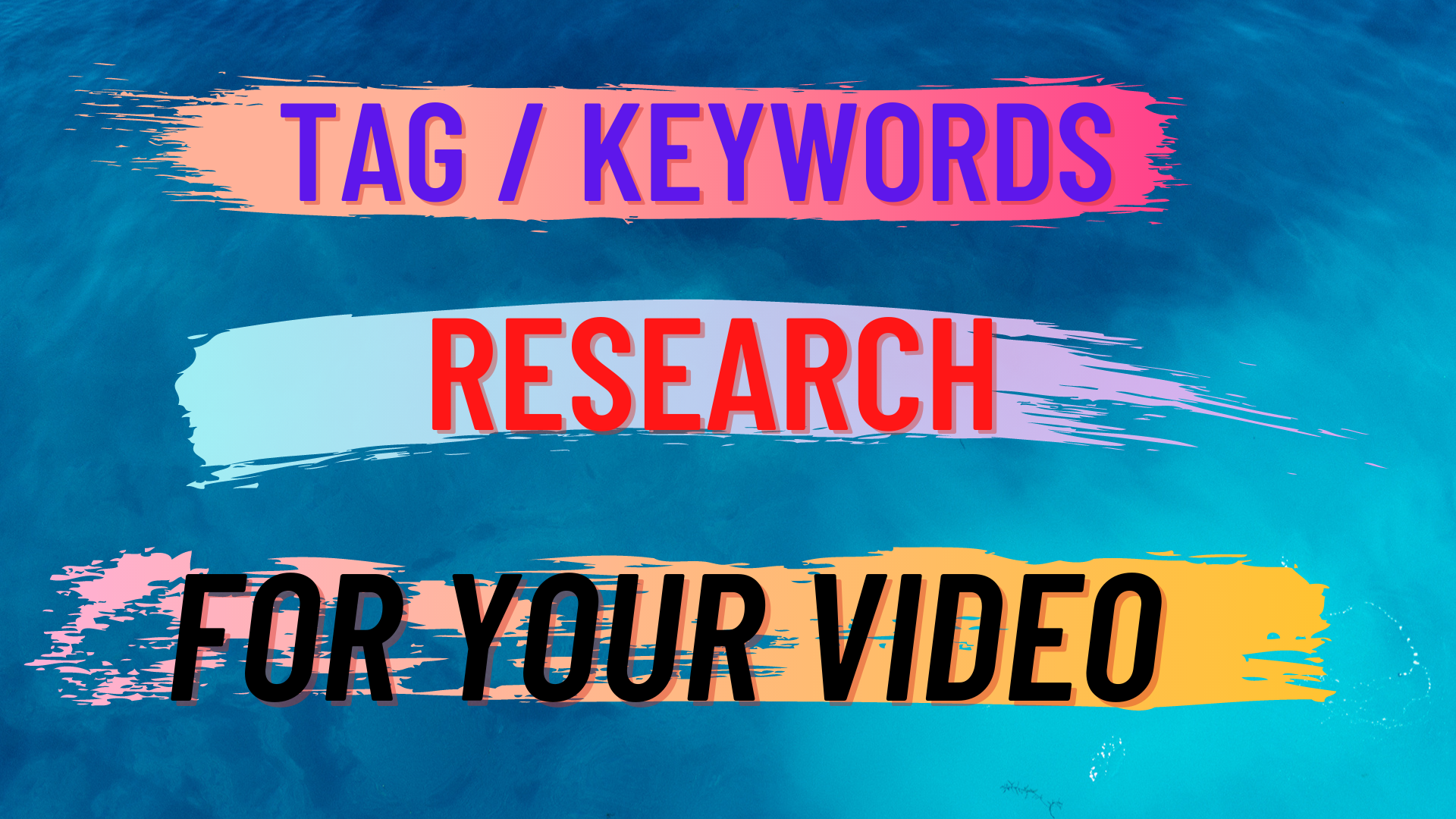 I will do keyword research for your Youtube video