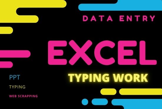 I will do data entry,  internet research,  and data analysis & typing works