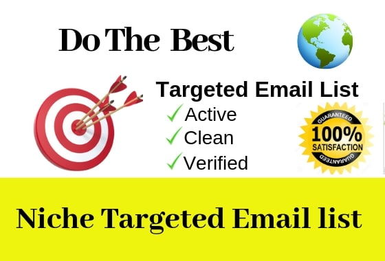 I will provide active verified niches email list for email marketing