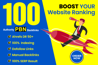 Build 5 DR 50 To 70 High Quality PBN Seo Backlinks For Google Ranking &ndash Refund Or Results
