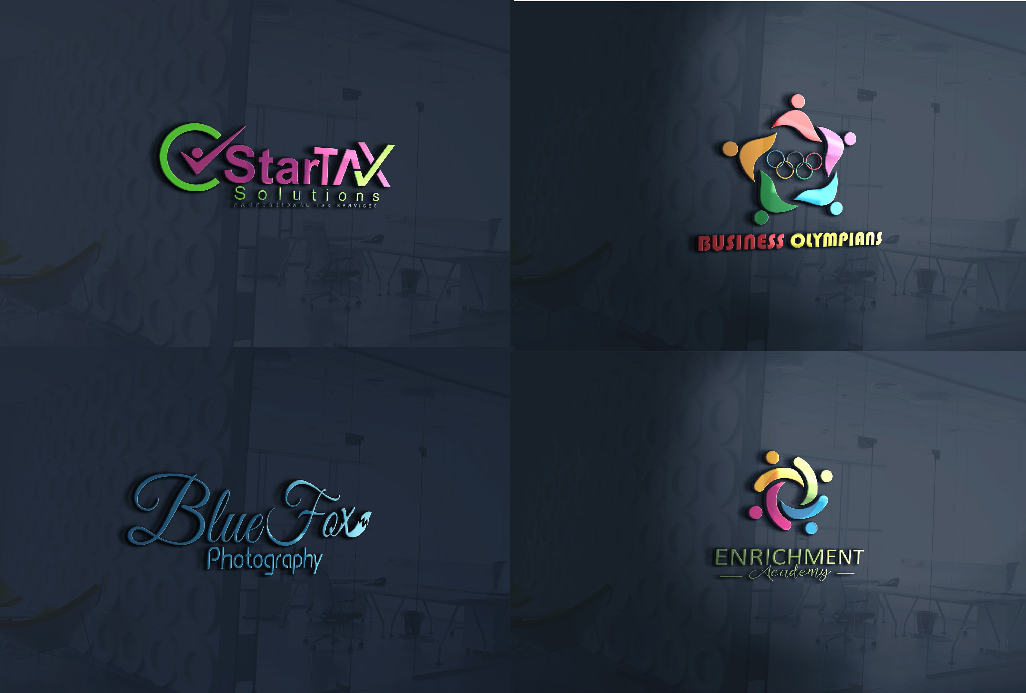 Design unique and creative Logos for company and many more