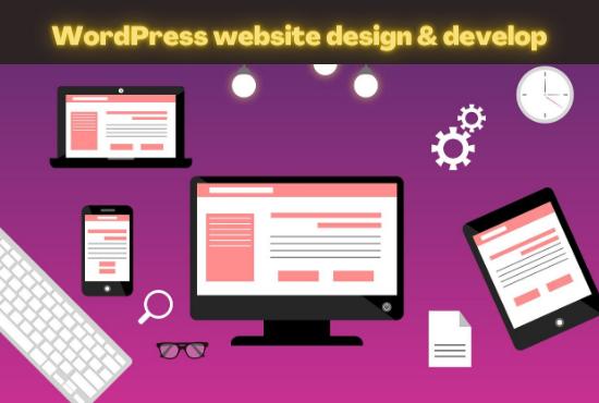 I will create wordpress website or blog
