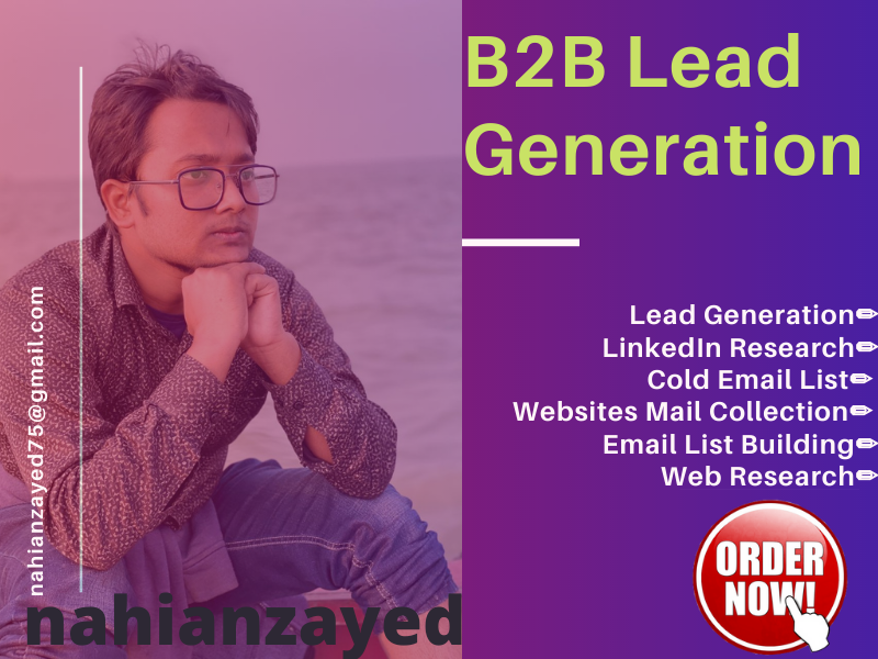 I will do b2b lead generation and all type of lead