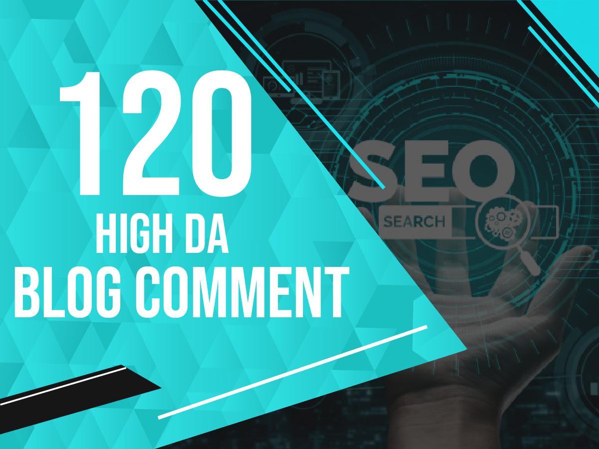 Build 120 Extreme Quality do follow Blog Comment backlinks