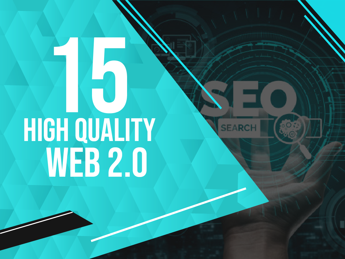 Create 15 high quality web 2.0 for your website