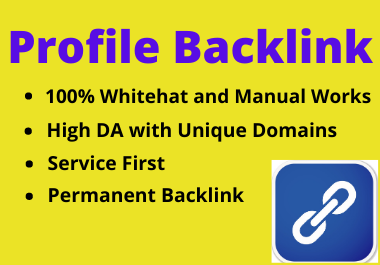 25 Profile backlink on high authority website permanent link building must rank your website