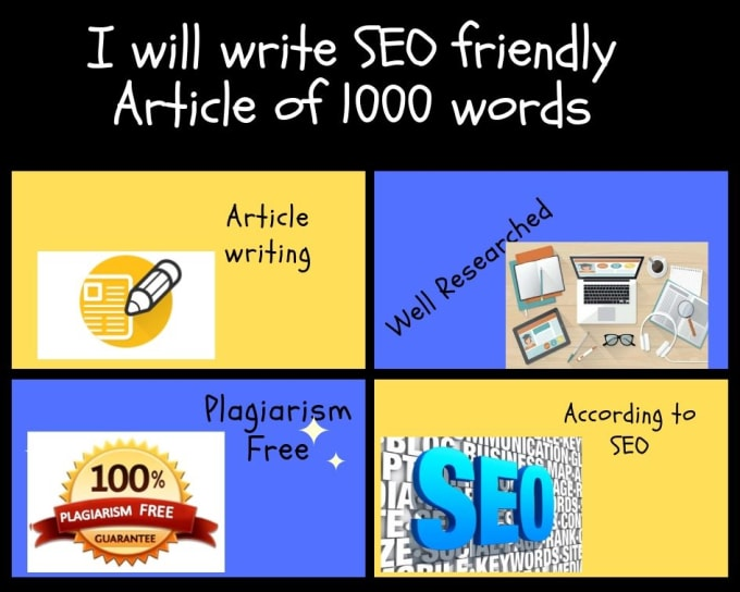 I will write 1000 words SEO optimized article on any topic for your blog