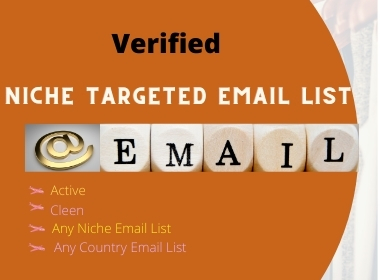 I will provide active verified 5K niches email list for email marketing