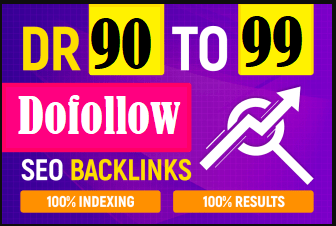 I Will Build 50 DR 90 To 99 High Quality Dofollow Backlinks Seo Service For Google Top Ranking