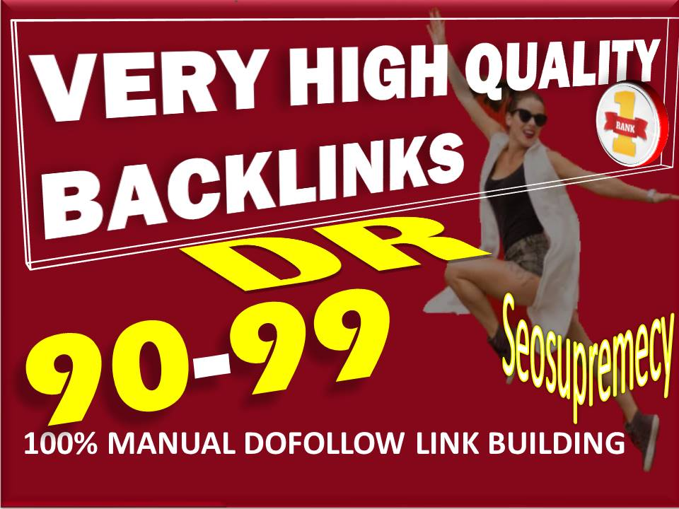 Do Manually 100+ Sticky DR 90 To 99 High Quality Dofollow Backlinks SEO Link Building Service