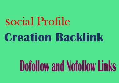 I will create manually 80 Social Profile Creation Back link on High DA PA Sites
