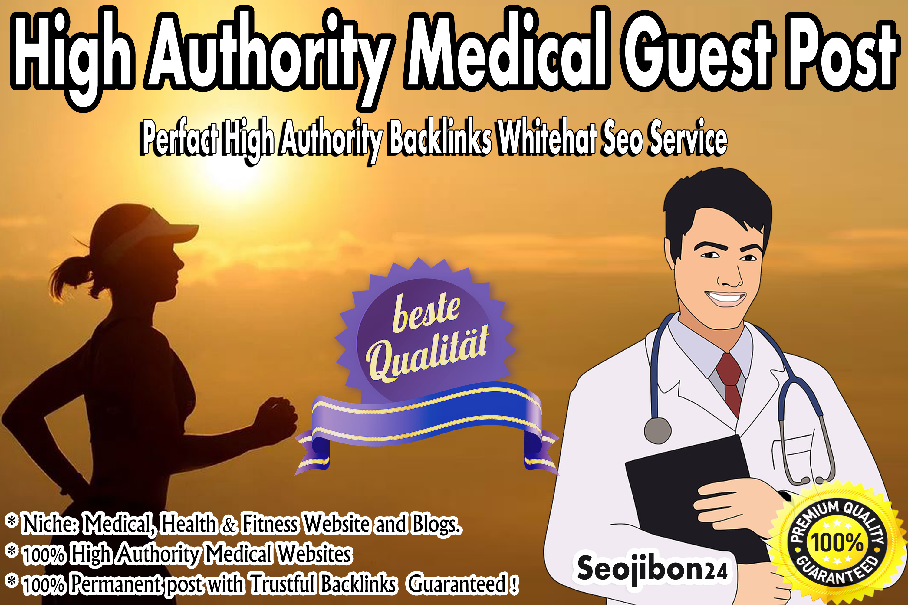 I will publish medical guest post on high authority sites and blogs