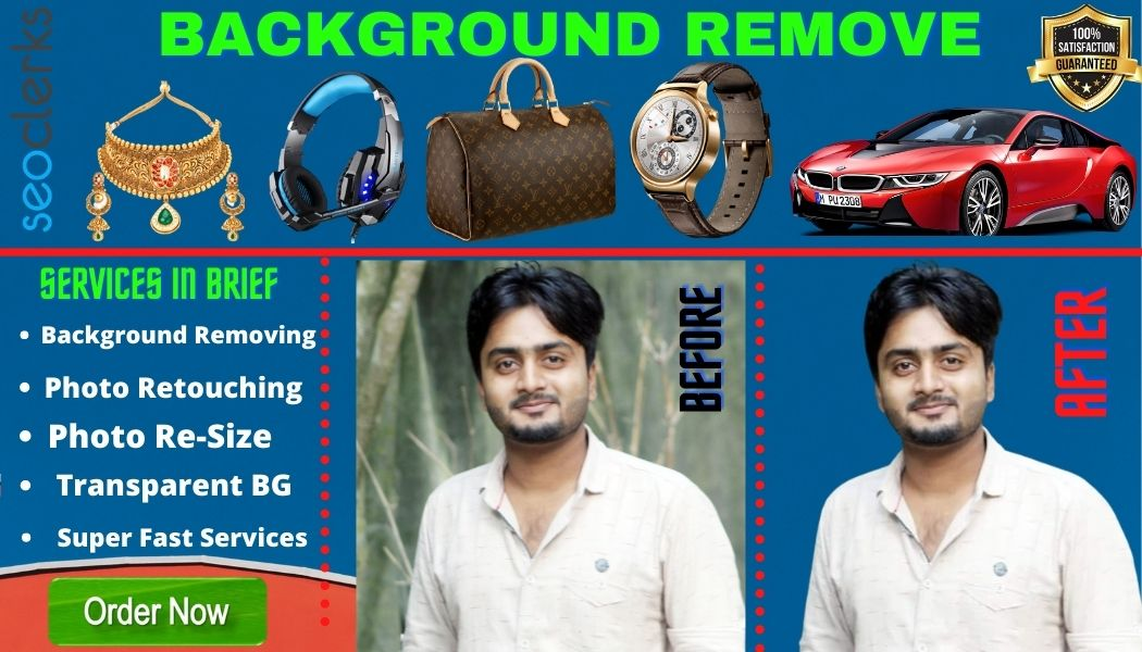 I will do 100 easy Image Background Removal and JPG,  PSD,  PNG delivery
