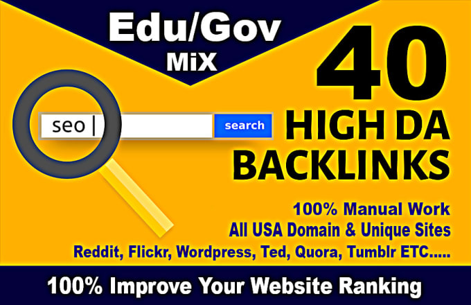 I will give you 100 E-du/G-ov backlinks +Pure Dofollow