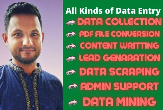 Professional Data Entry job for Company and Person.