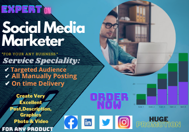 Social Media Marketing For Any Business. And Promote Globally.