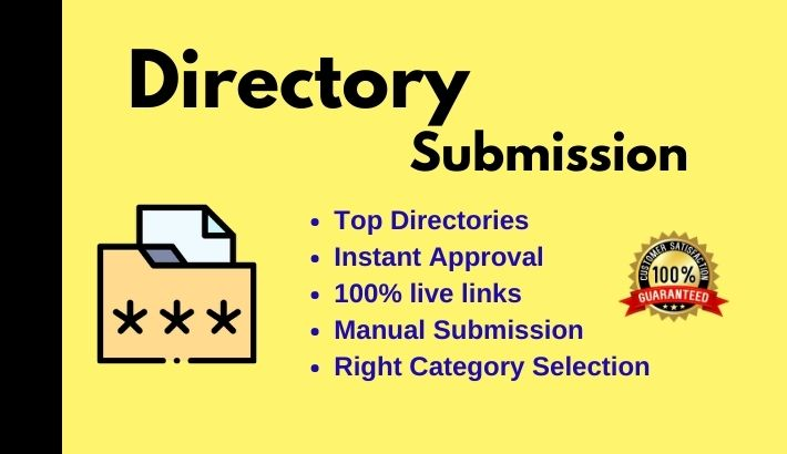 Instant Approve 50 Directory submission live links Manually from PR web directories