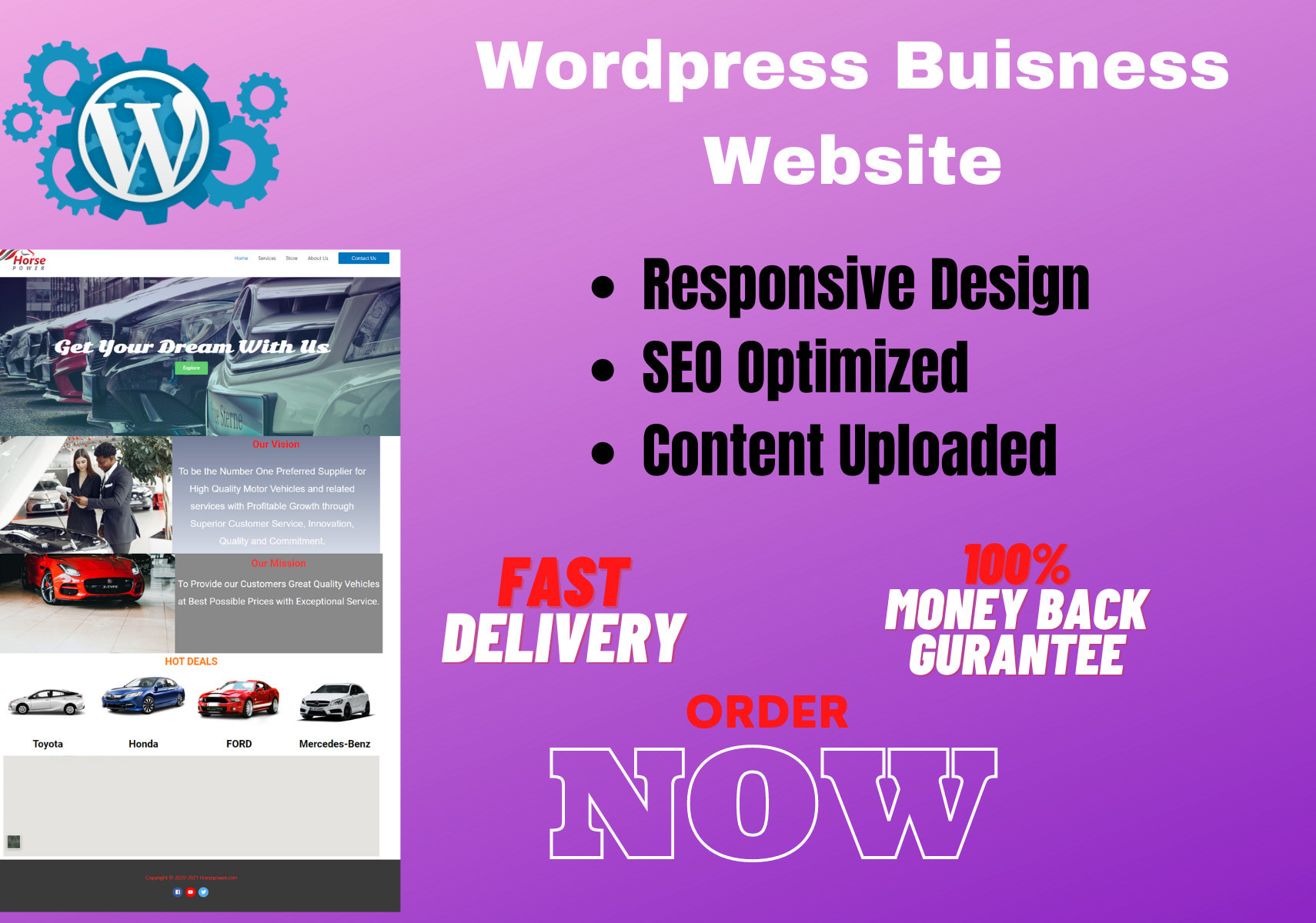 Design Modern Buisness Website in Wordpress
