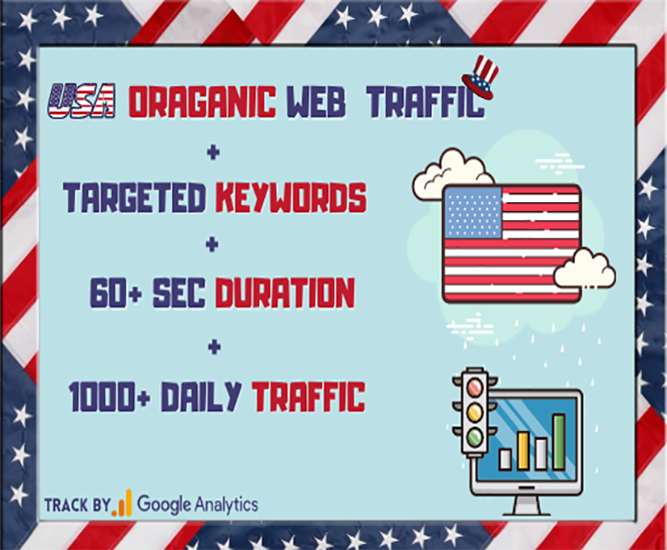 keywords targeted Organic USA web Traffic From Google for 30 days