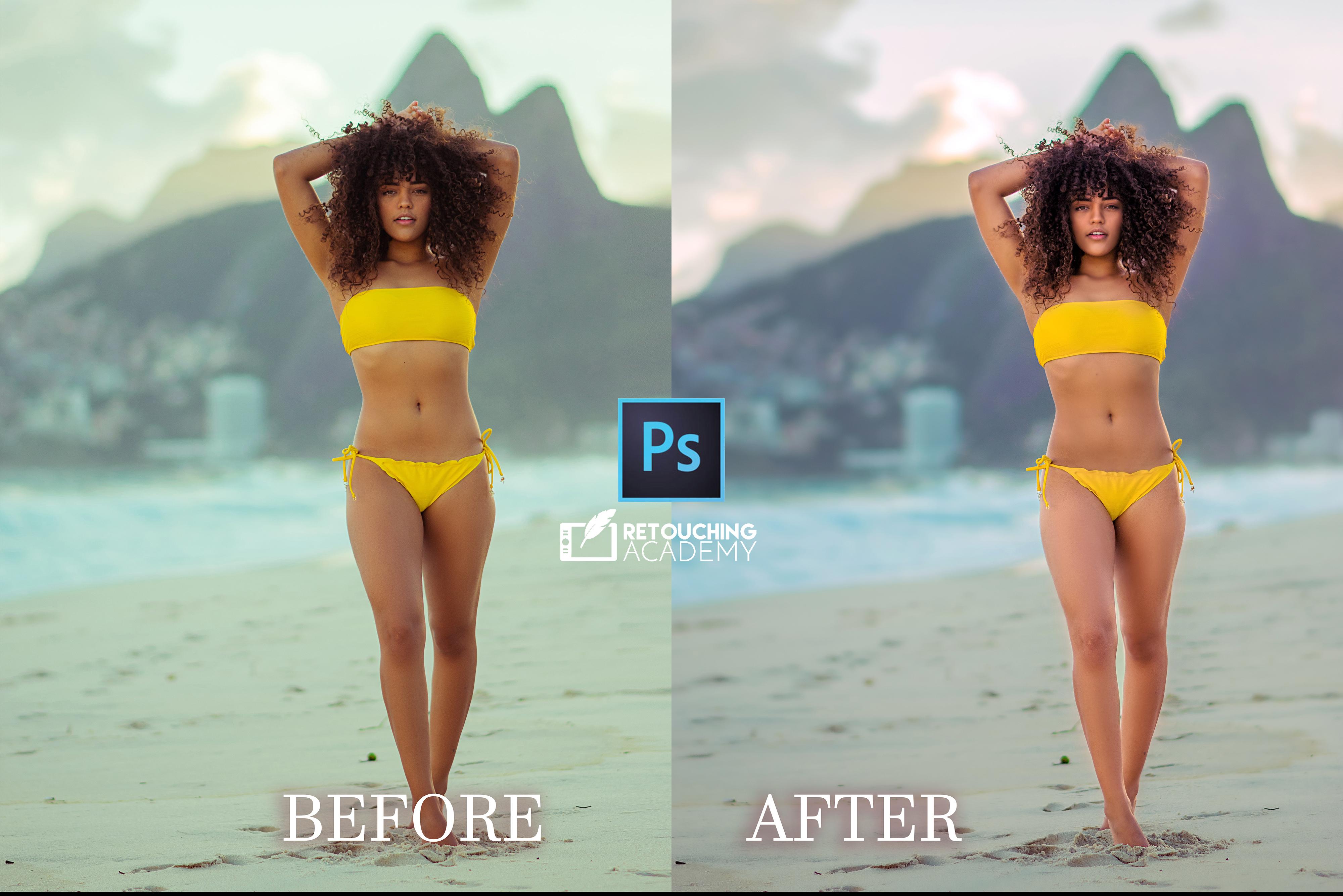 -Skin retouching - Dodge & burn -Color enhancement/correction