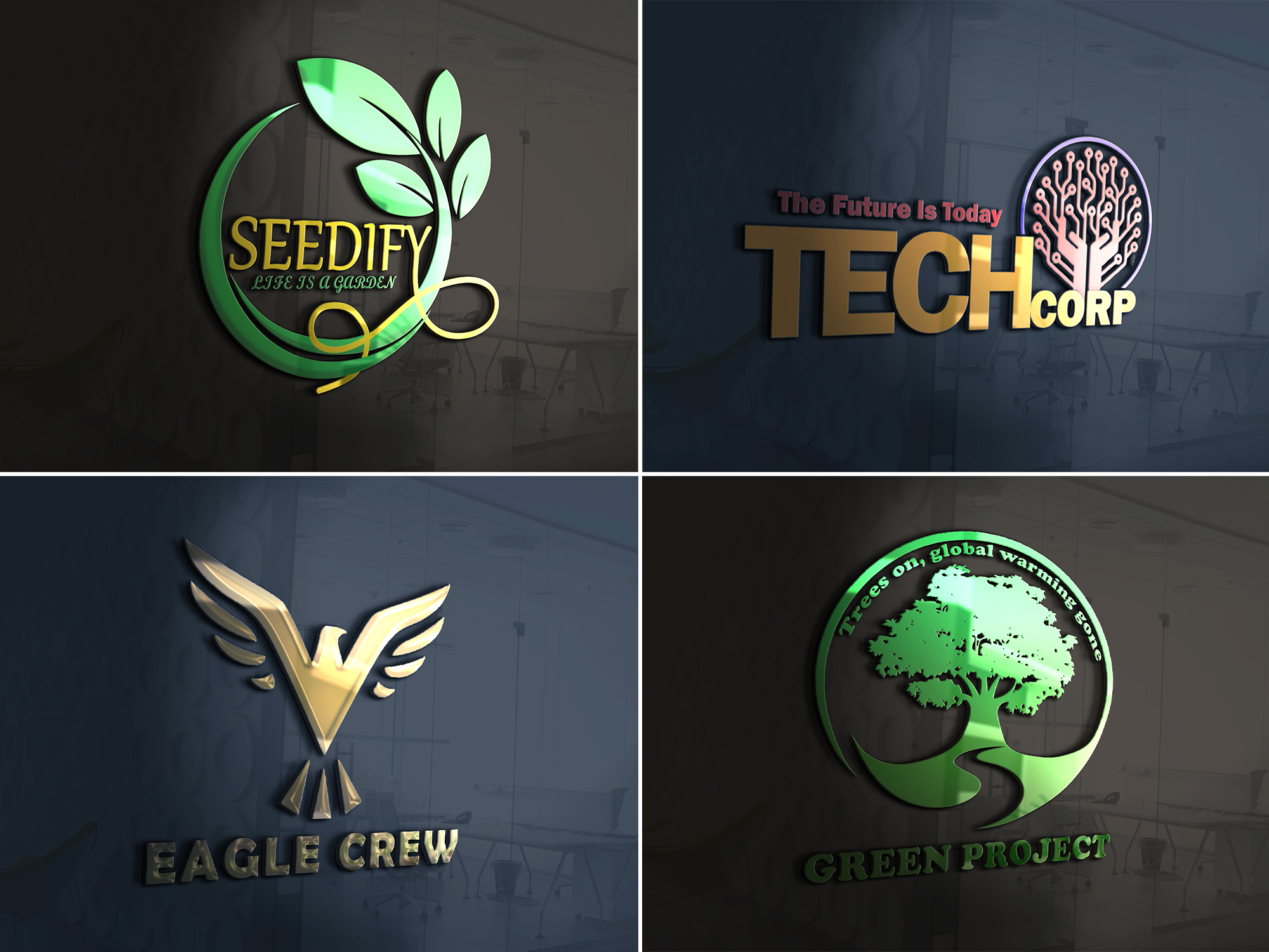 I will do amazing 3d,  versatile logo design