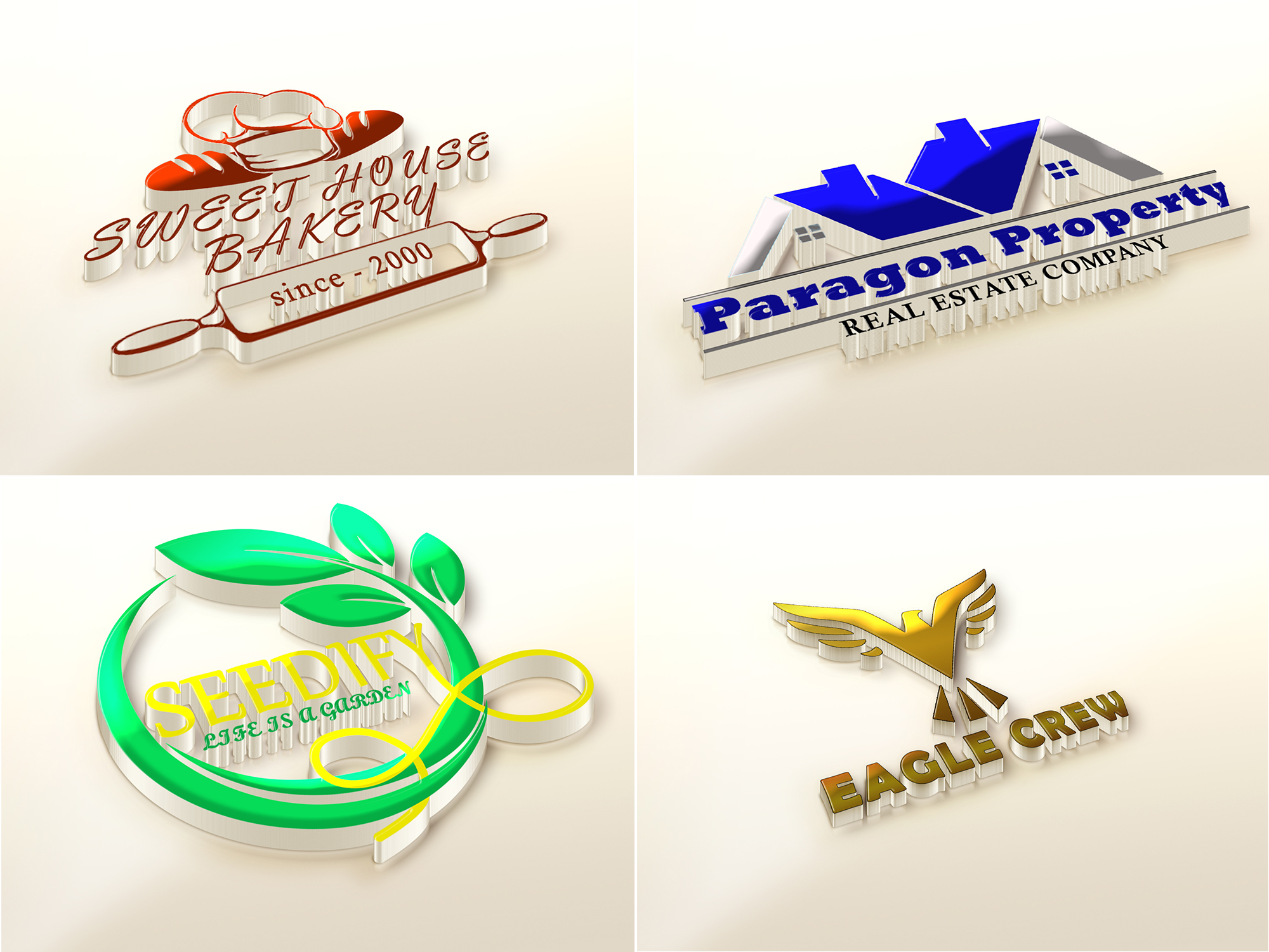 I will design modern creative versatile logo design