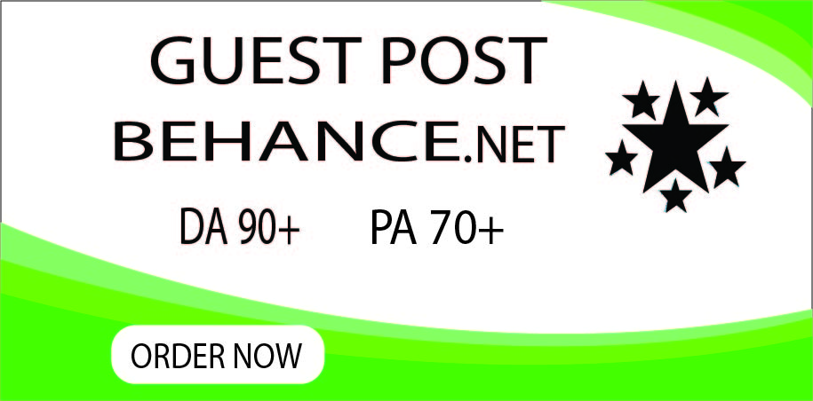 I will create guest post backlinks on behance. net