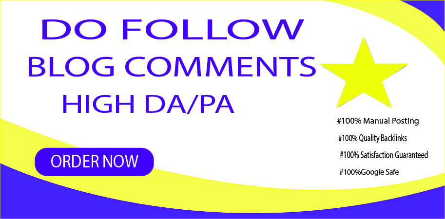 Provide 30 Manual do-follow blog comments
