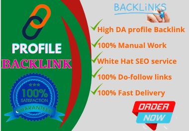I will Create 100+ Do Follow Profile Backlink for SEO.