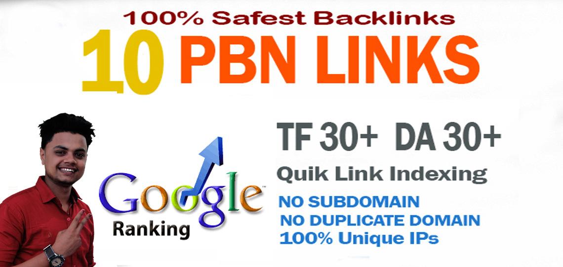 Build 10 PBN DA 30+ With 0 Spam Score Homepage Backlinks