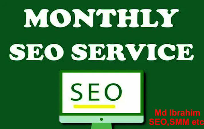 I will do monthly SEO service on page and off page for google top ranking