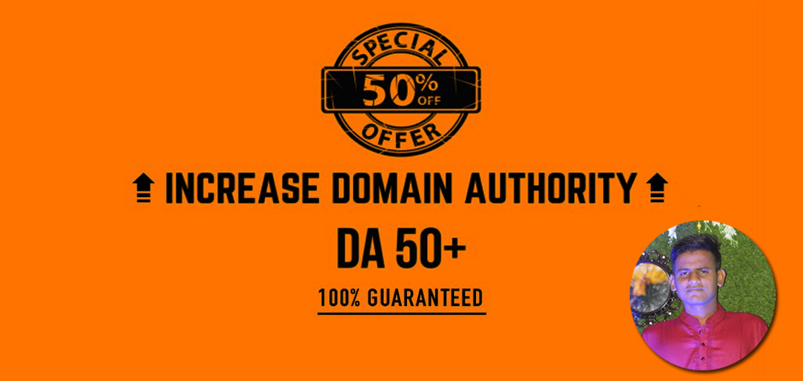 Increase Domain Authority MOZ DA 50+Plus