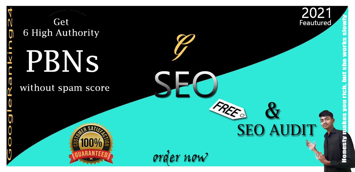 GET Permanently ZERO SPAM Score 6 Real PBNs BackLinks On Home Page