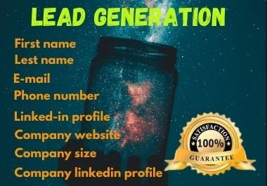 I will B2B Lead Generation for your business