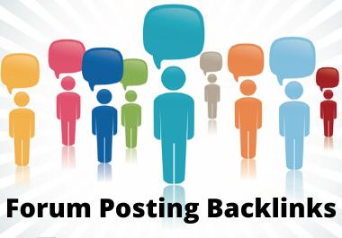 Get 40 HQ Forum Posting Backlinks