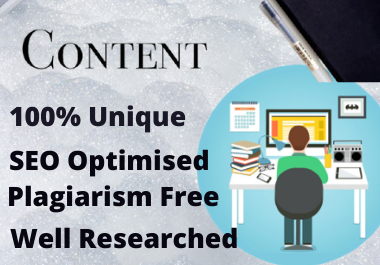 800-1200 words SEO Optimised Content Writing