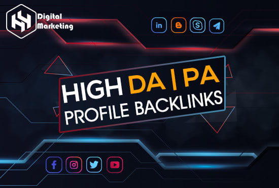 make manual profile backlinks on high authority websites