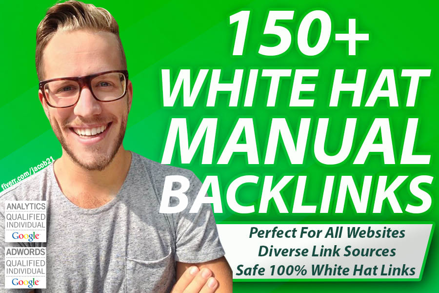 do150 SEO backlinks white hat manual link building service for google top ranking