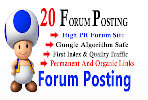 Best 20 forum posting for businesses