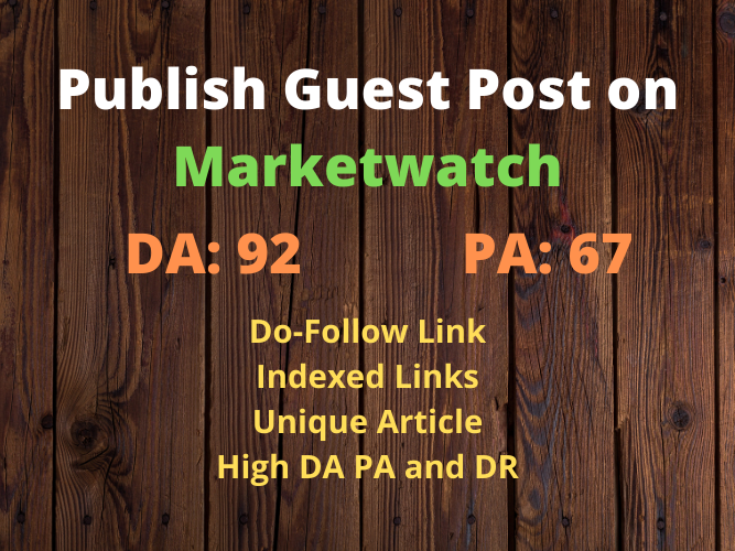 Publish Guest Post on Marketwatch with Do Follow Link DA 93