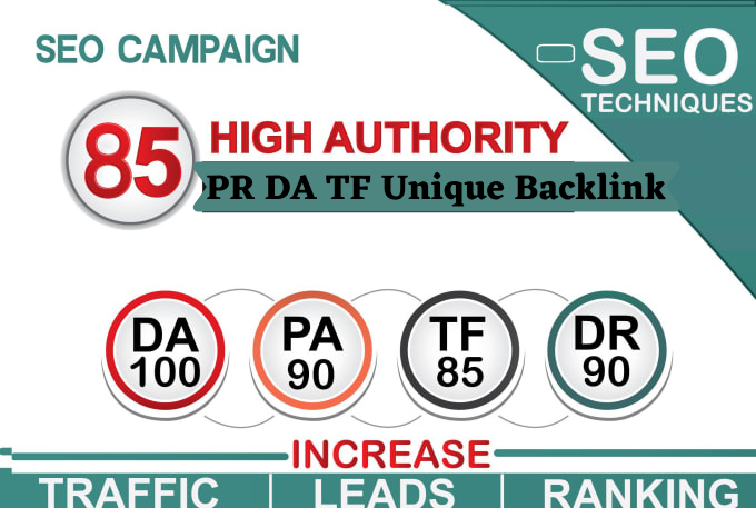 BUY 3 GET 1 FREE - On Build 85 Unique Domain SEO Backlink With High DA PR TF For Increasing Ranking