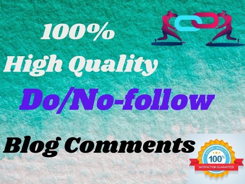 I Will Do High Authority SEO No & Dofollow Blog Comment Backlinks