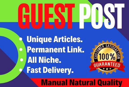 5 Guest Posts Write and Publish on DA 90+ unique article high Authority website Permanent Backlinks