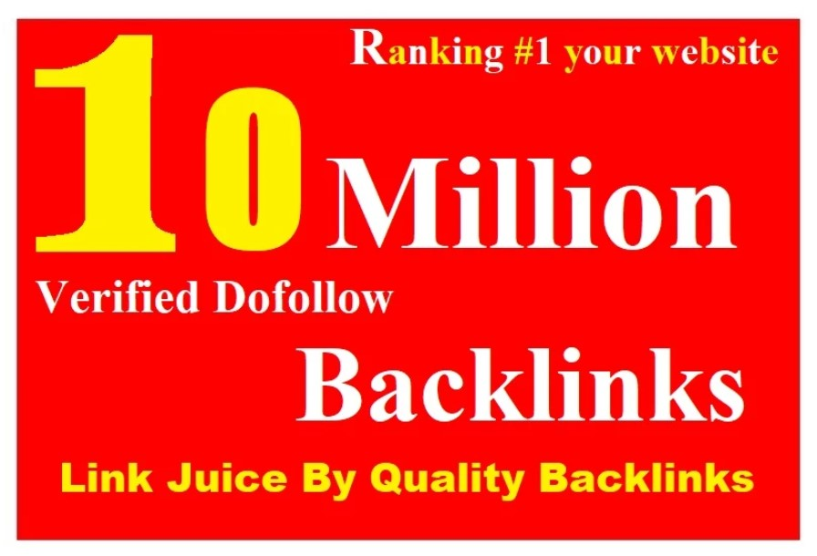 Rank your website on google with live check 10 million gsa dofollow backlinks