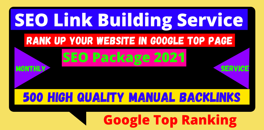 Monthly 500 manual off-page seo google top ranking linkbuilding package 2021