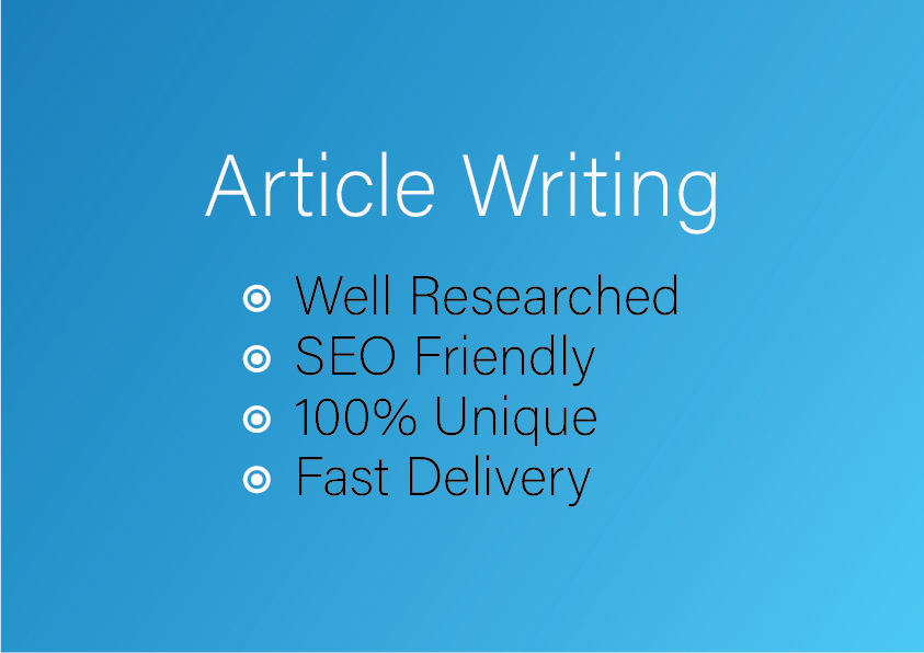 2000 words Creative Article Writing