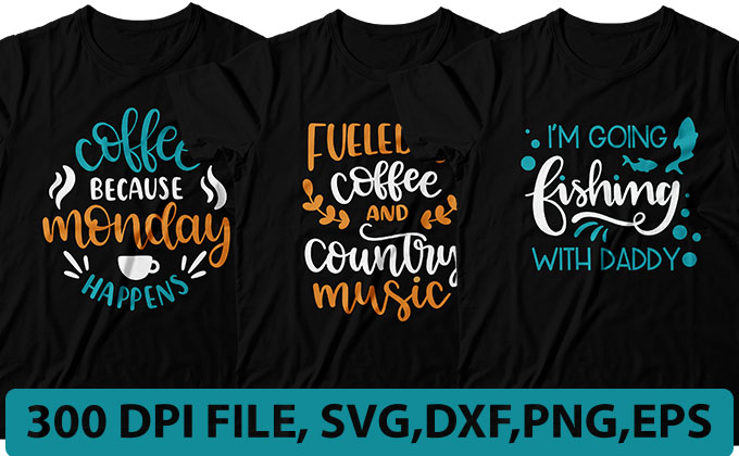 I will make creative typography t-shirt design with svg cutting file