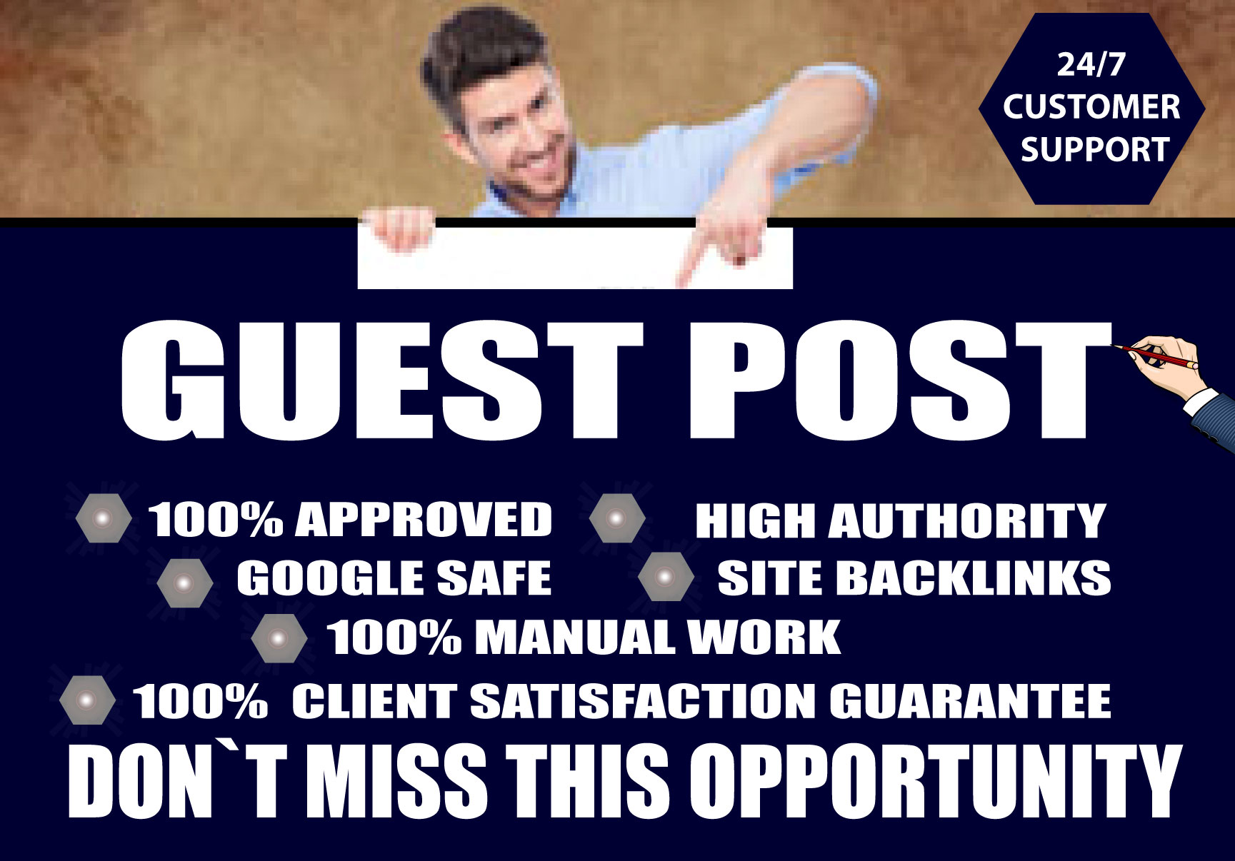 I Will Write and Publish 5 High Guest Posts on DA 50+ Plus Powerful Backlinks